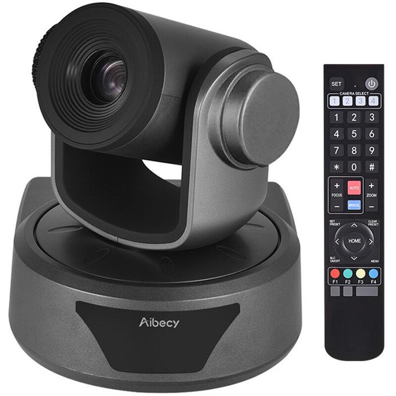 AIBECY Hd Video Conference Cam Conference Camera Full Hd 1080P Zoom Optique 3X 95 Degres Grand Affichage Avec 2.0 Usb Web Cable De Controle A Distance