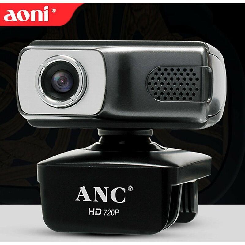 AONI USB Webcam Appel video Ordinateur portable 720P Web Cam Videoconference Enseignement a distance etudier Camera Web avec camera de surveillance micro,