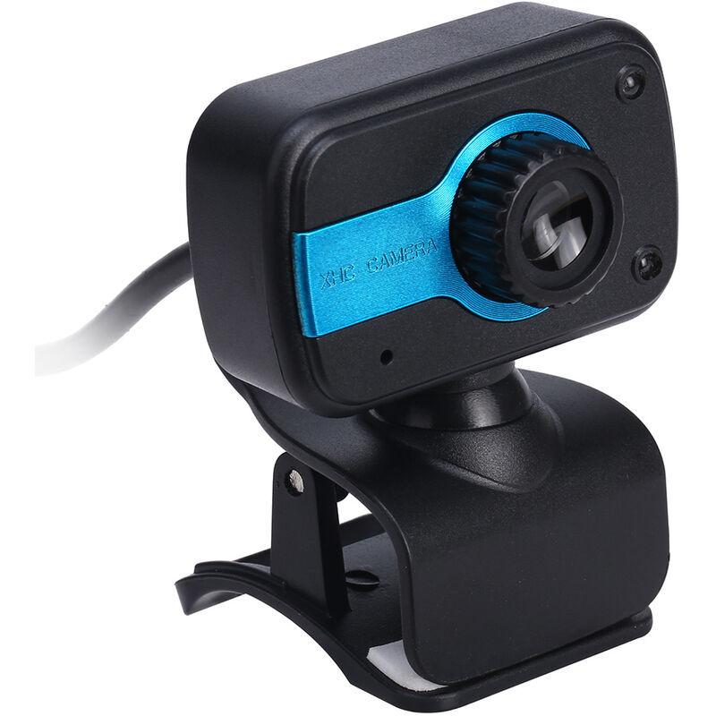 ASUPERMALL Camera Video Webcam Haute Definition Web Cam Avec Microphone Integre 360 Degres De Rotation Pour En Ligne Etude Appel Reunion, Bleu