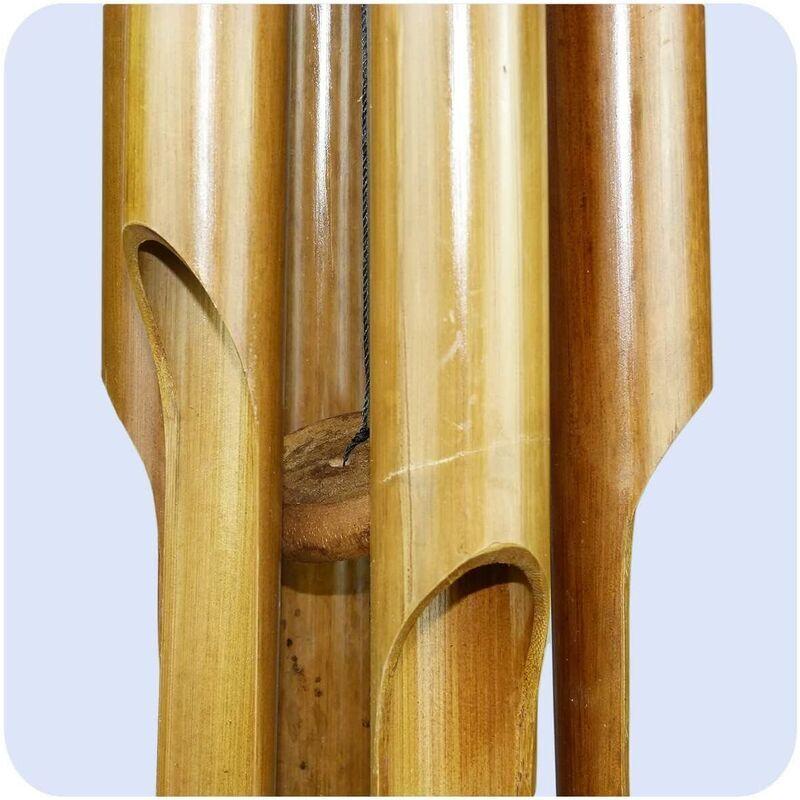 ZQYRLAR Carillons éoliens carillon bambou déco mobile carillons jeu sonore détente jardin sonnette feng shui 60 cm