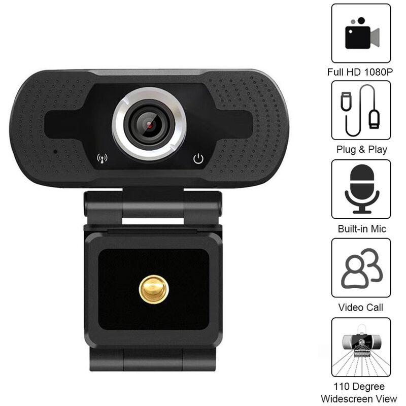 ASUPERMALL Full Hd 1080P Grand Angle Usb Webcam Usb 2.0 Drive-Gratuit Avec Micro Web Cam Ordinateur Portable En Ligne Teching Conference En Direct Streaming