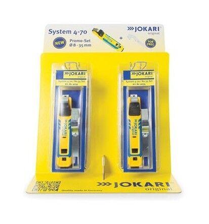 Perel Jokari display 6pcs cable knife system 4-70 + free cable bracket n,°35