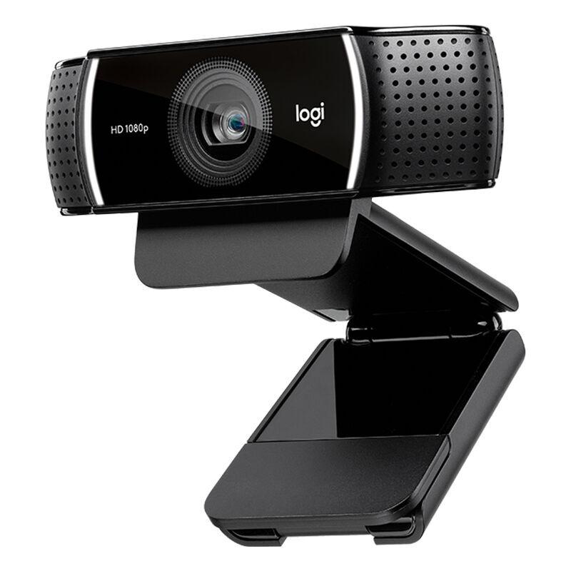 Logitech C922 1080P HD Webcam Streaming Video Chat USB Web Cam Enseignement a distance Reunion Ordinateur portable Camera Web avec micro stereo pour Windows