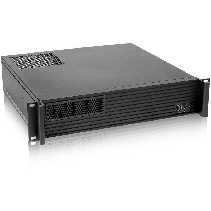 RACKMATIC Boîtier châssis rack 19' IPC mini-ITX micro-ATX 2U 1x5.25' 5x3.5' profondeur 400mm - Rackmatic