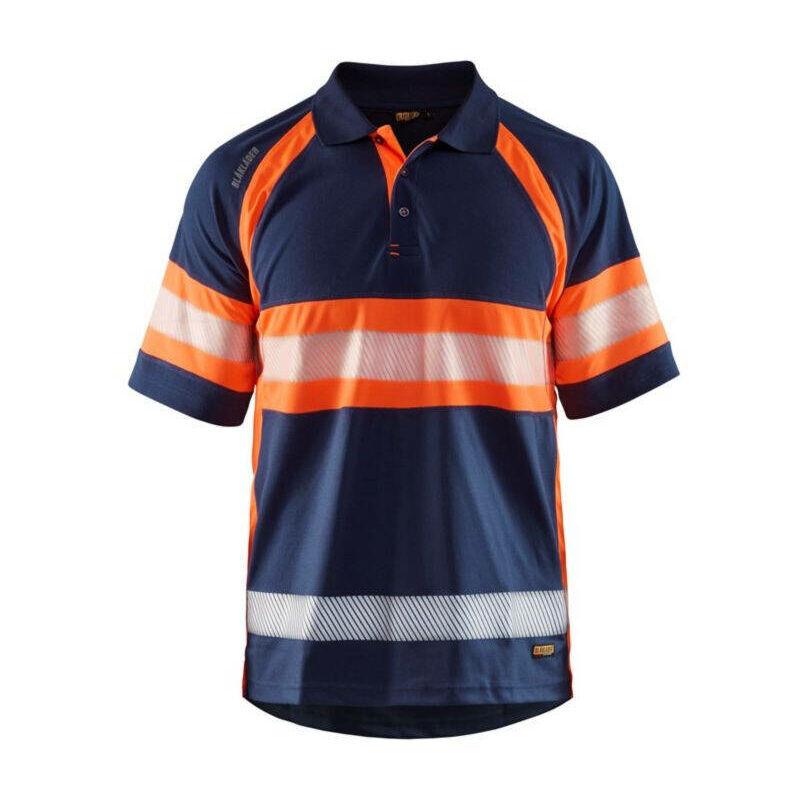 BLAKLADER Polo haute visibilité Blaklader anti-UV et anti-odeurs Marine / Orange XXL