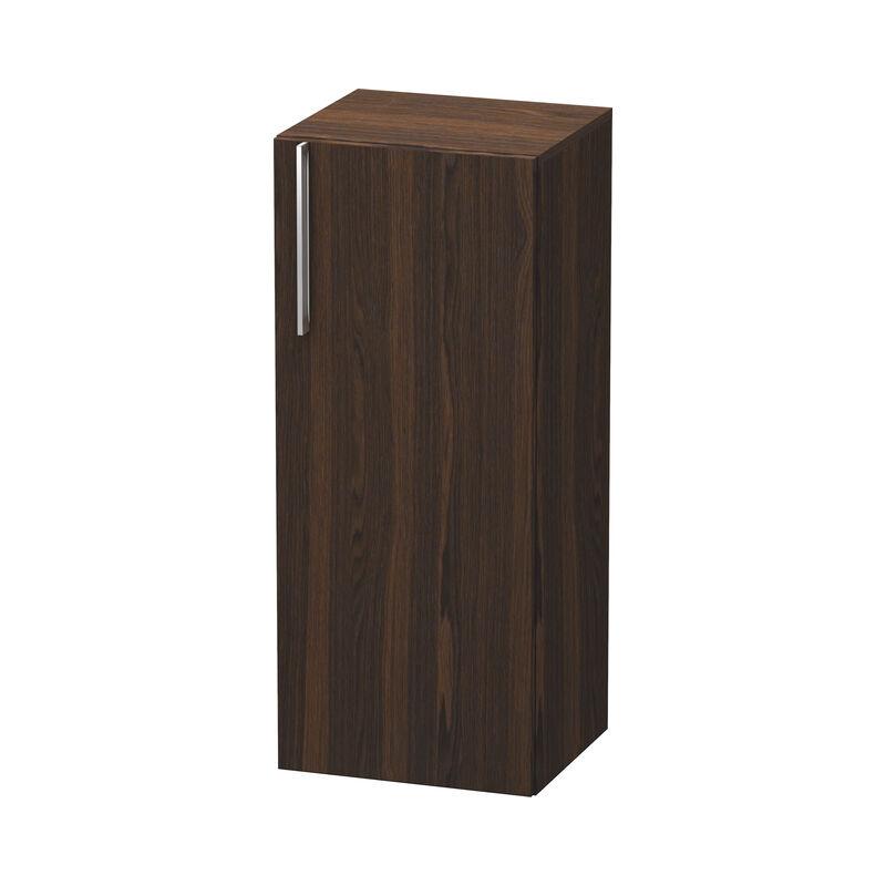 DURAVIT Armoire mi-haute Vero, 1106, charnière de porte à droite, 400mm, Couleur (avant/corps): Noyer brossé Placage bois véritable - VE1106R6969 - Duravit
