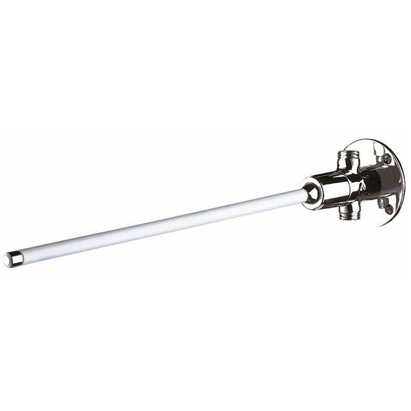 PRESTO Robinet temporisé à commande fémorale pour lavabo - Tempogenou Delabie - modèle droit 1/2, Longueur 432 mm, pour arrivée en ligne