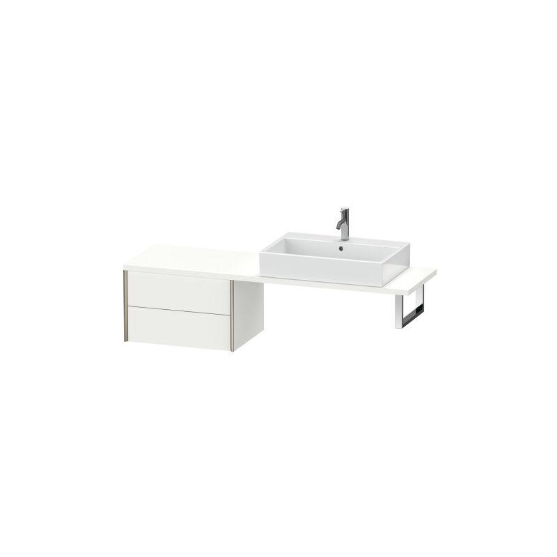 DURAVIT AG Durait XViu meuble bas pour console compact, 2 tiroirs, 63.2 x 47.8mm, Couleur (avant/corps): noir mat/chêne brossé - XV59280B212