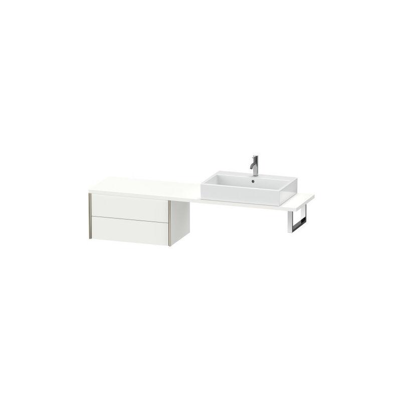 DURAVIT AG Durait XViu meuble bas pour console compact, 2 tiroirs, 73.2 x 47.8mm, Couleur (avant/corps): noir mat/noyer brossé - XV59480B269