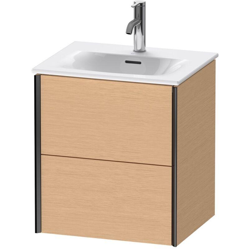 DURAVIT AG Duravit Durait XViu 4131 Meuble sous-lavabo suspendu, 2 tiroirs, pour lavabo Viu 234453, 510x420 mm, Couleur (avant/corps): noir mat/chêne brossé