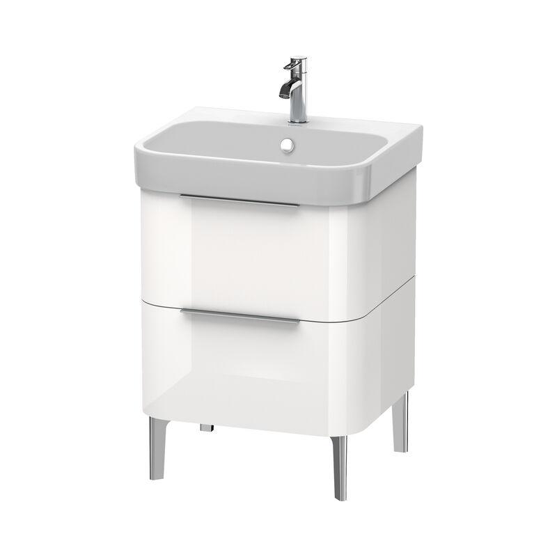 DURAVIT Happy D.2 Meuble sous-lavabo 575mm 6371, 2 tiroirs, pour Happy D.2, Couleur (avant/corps): placage en chêne véritable brossé foncé - H2637107272