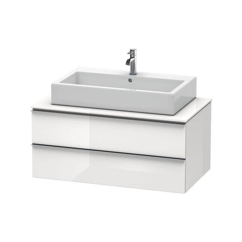 DURAVIT Happy D.2 Meuble sous-lavabo pour console 1000mm 6302, 2 tiroirs, Couleur (avant/corps): placage en chêne véritable brossé foncé - H2630207272