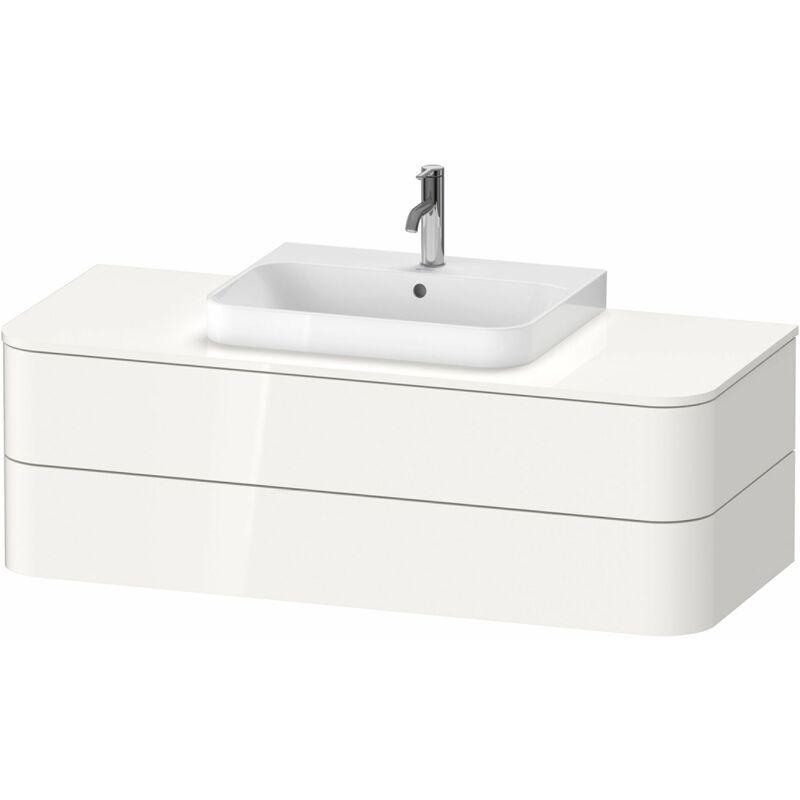 DURAVIT AG Duravit Happy D.2 Plus Meuble sous-lavabo pour console murale, 1300x550 mm, 2 tiroirs, pour lave-mains, Couleur (avant/corps): Noyer brossé Placage