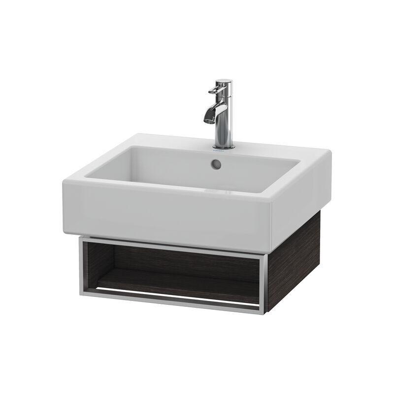 DURAVIT Meuble sous-lavabo Vero 6003 mural, avec 1 compartiment ouvert avec porte-serviettes, 450mm, Couleur (avant/corps): placage en chêne véritable brossé