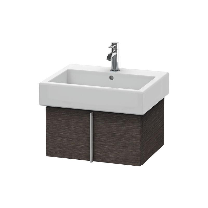 DURAVIT Meuble sous-lavabo Vero 6104 mural, avec 1 tiroir, 550mm, Couleur (avant/corps): placage en chêne véritable brossé foncé - VE610407272 - Duravit