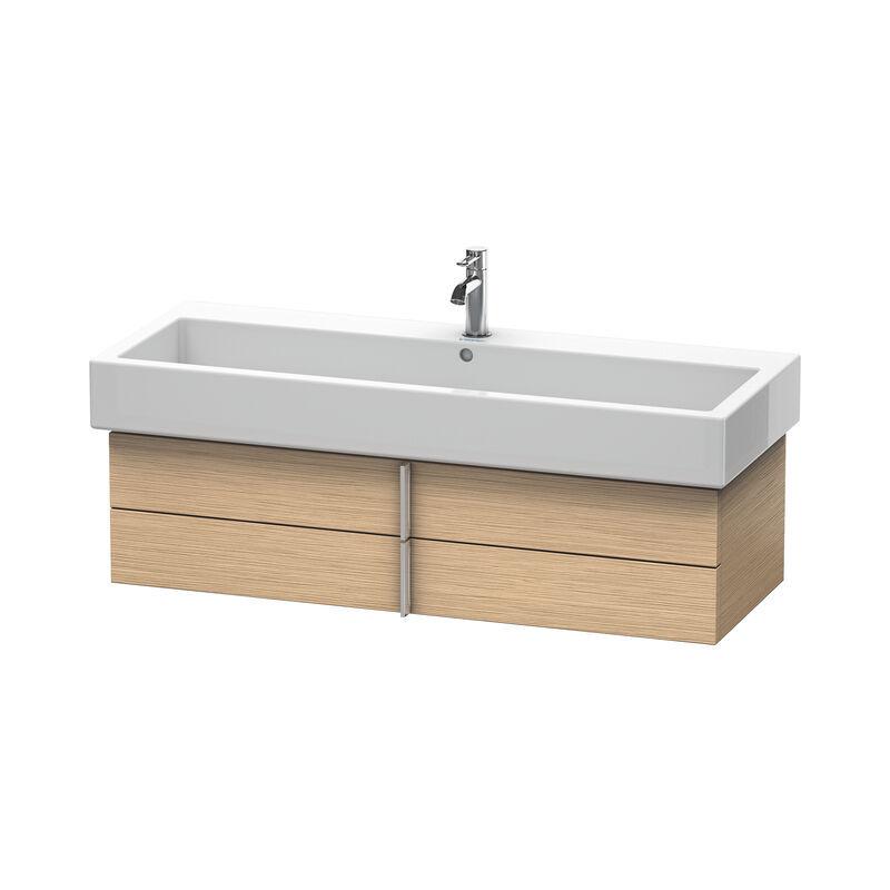 DURAVIT Meuble sous-lavabo Vero 6208 mural, avec 2 tiroirs, 1150mm, Couleur (avant/corps): Chêne brossé Placage bois véritable - VE620801212 - Duravit