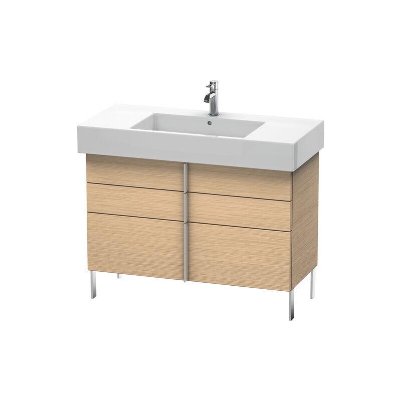 DURAVIT Meuble sous-lavabo Vero 6414, avec 2 tiroirs et 1 tiroir coulissant, 1000mm, Couleur (avant/corps): Chêne brossé Placage bois véritable - VE641401212