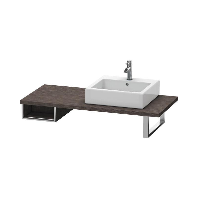 DURAVIT Meuble sous-lavabo Vero pour console, 6546, 1 compartiment ouvert, 300mm, Couleur (avant/corps): placage en chêne véritable brossé foncé