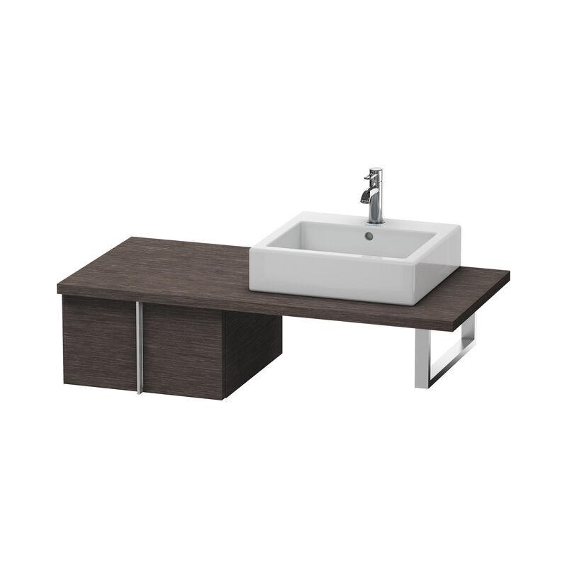 DURAVIT Meuble sous-lavabo Vero pour console, 6558, 1 tiroir, 500mm, Couleur (avant/corps): placage en chêne véritable brossé foncé - VE655807272 - Duravit