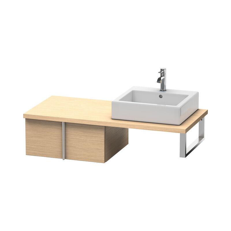DURAVIT Meuble sous-lavabo Vero pour console, 6559, 1 tiroir, 600mm, Couleur (avant/corps): Chêne brossé Placage bois véritable - VE655901212 - Duravit
