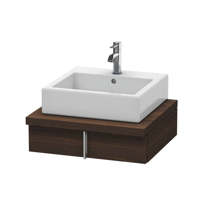 DURAVIT Meuble sous-lavabo Vero pour console, 6560, 1 tiroir, 600 mm, Couleur (avant/corps): Noyer brossé Placage bois véritable - VE656006969 - Duravit