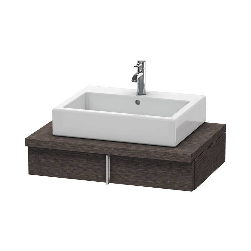 DURAVIT Meuble sous-lavabo Vero pour console, 6561, 1 tiroir, 800 mm, Couleur (avant/corps): placage en chêne véritable brossé foncé - VE656107272 - Duravit