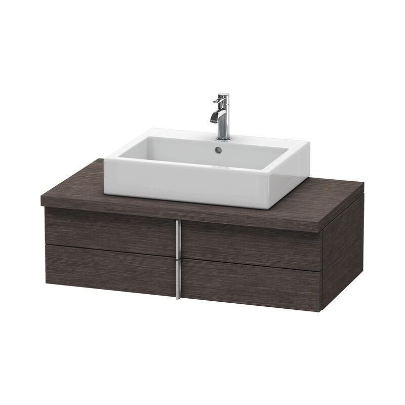 DURAVIT Meuble sous-lavabo Vero pour console, 6572, 2 tiroirs, 1000mm, Couleur (avant/corps): placage en chêne véritable brossé foncé - VE657207272 - Duravit