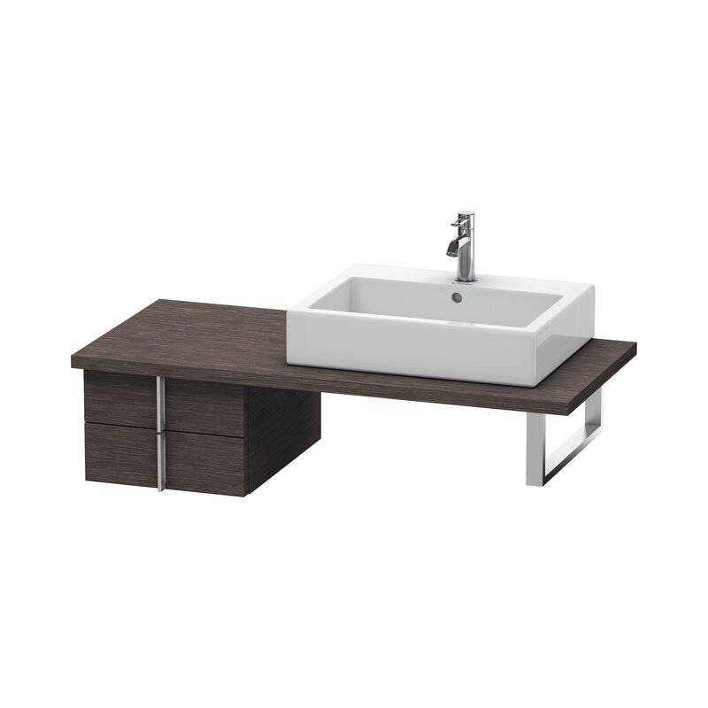 DURAVIT Meuble sous-lavabo Vero pour console, 6577, 2 tiroirs, 400mm, Couleur (avant/corps): placage en chêne véritable brossé foncé - VE657707272 - Duravit