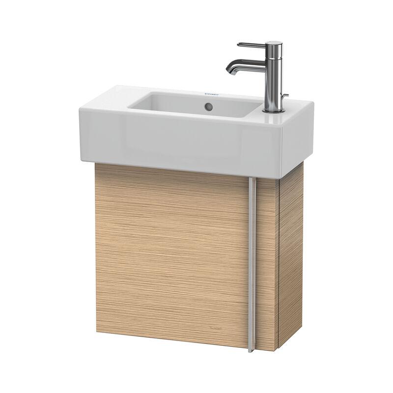 DURAVIT Vero Meuble sous-lavabo mural 6270, avec 1 porte, charnière de porte à gauche, 450 mm, Couleur (avant/corps): Chêne brossé Placage bois véritable