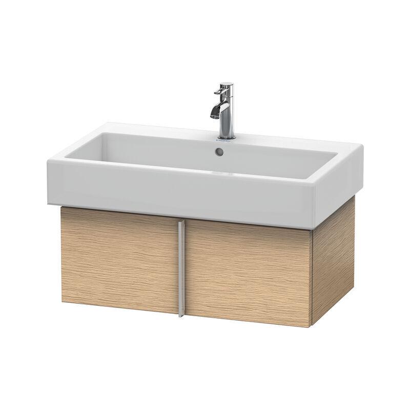 DURAVIT Vero Meuble sous-lavabo suspendu 6106, avec 1 tiroir, 750mm, Couleur (avant/corps): Chêne brossé Placage bois véritable - VE610601212 - Duravit
