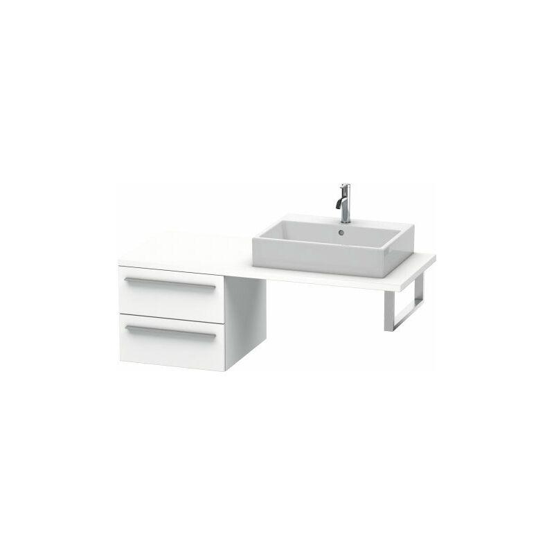 DURAVIT X-Large meuble bas pour console, 2 tiroirs, 500mm, Couleur (avant/corps): Noyer brossé Placage bois véritable - XL543706969 - Duravit