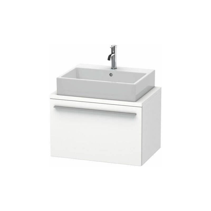DURAVIT X-Large meuble-lavabo pour console compacte, 1 tiroir, 700mm, Couleur (avant/corps): placage en chêne véritable brossé foncé - XL540107272 - Duravit