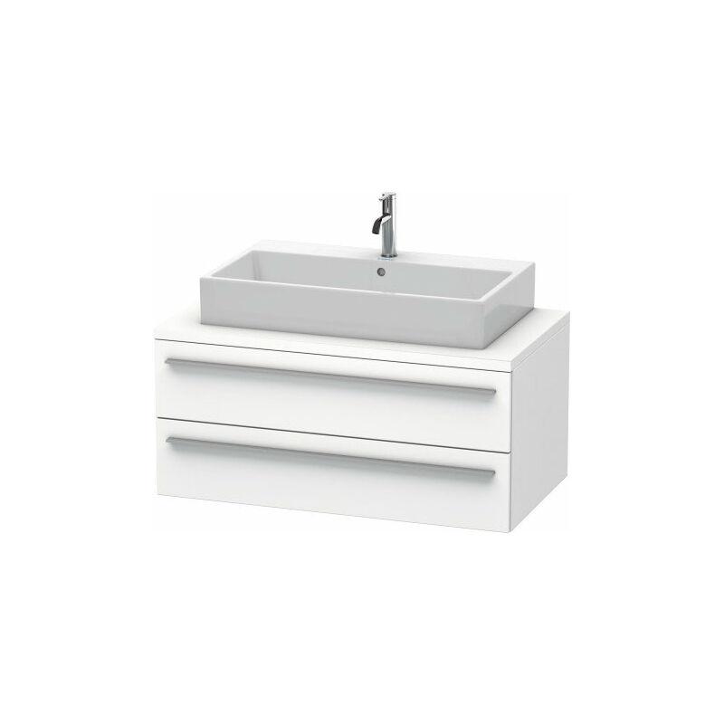 DURAVIT X-Large meuble sous-lavabo pour console 100,0 x 54,8 cm, 2 tiroirs, avec découpe de siphon et tablier, Couleur (avant/corps): Noyer brossé Placage