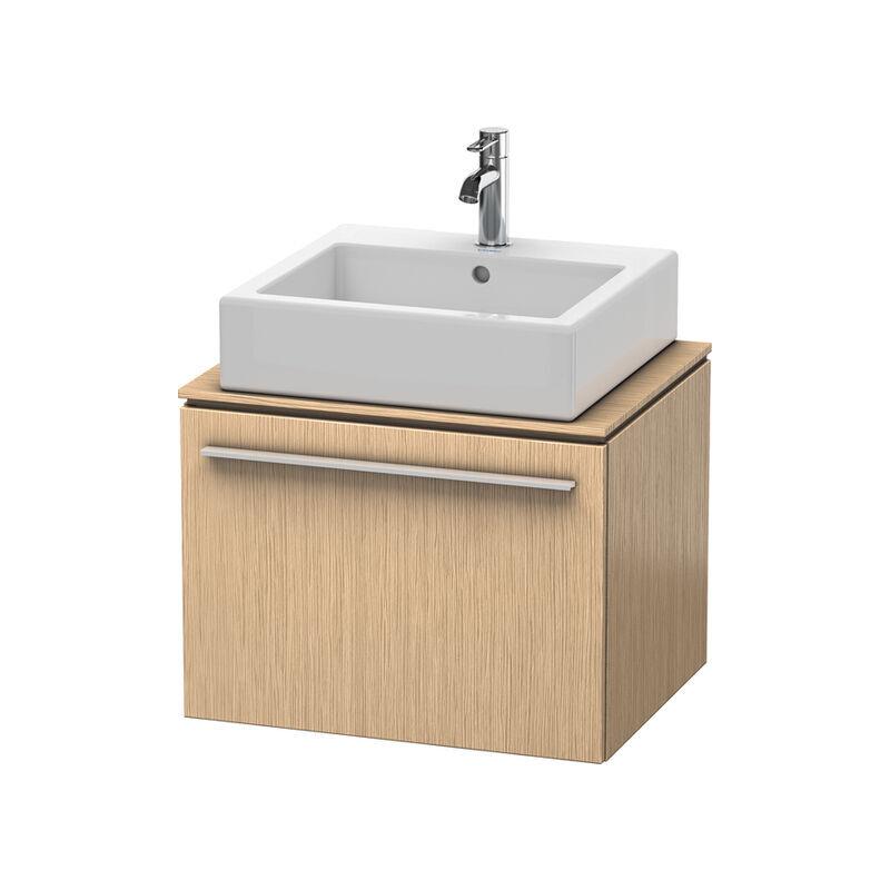 DURAVIT X-Large Meuble sous-lavabo pour console 6500, 1 rallonge, 600 mm, Couleur (avant/corps): Chêne brossé Placage bois véritable - XL650001212 - Duravit