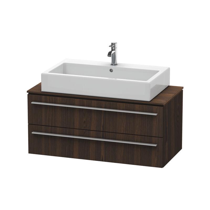 DURAVIT X-Large Meuble sous-lavabo pour console 6512, 2 tiroirs, 1000 mm, Couleur (avant/corps): Noyer brossé Placage bois véritable - XL651206969 - Duravit