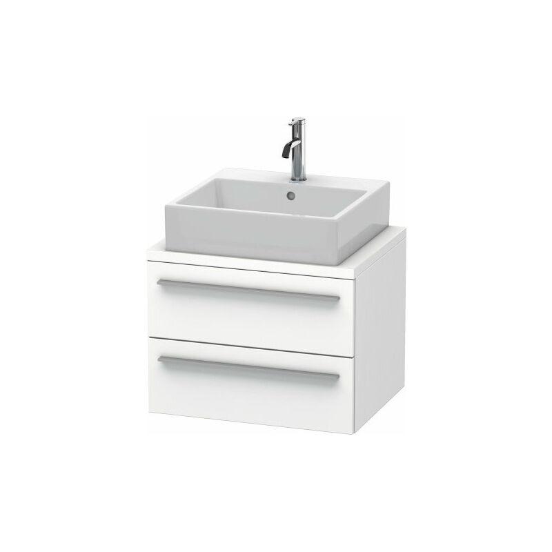 DURAVIT X-Large meuble sous lavabo pour console compact 60,0 x 47,8 cm, 2 tiroirs, avec découpe pour siphon et tablier, Couleur (avant/corps): Noyer brossé