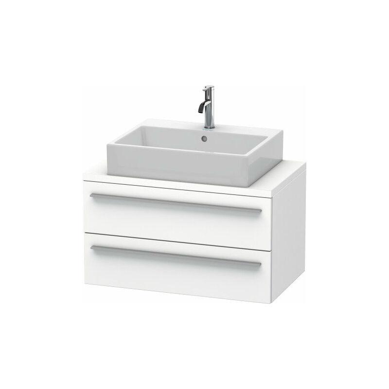 DURAVIT X-Large meuble sous lavabo pour console compact 80,0 x 47,8 cm, 2 tiroirs, avec découpe pour siphon et tablier, Couleur (avant/corps): Chêne brossé