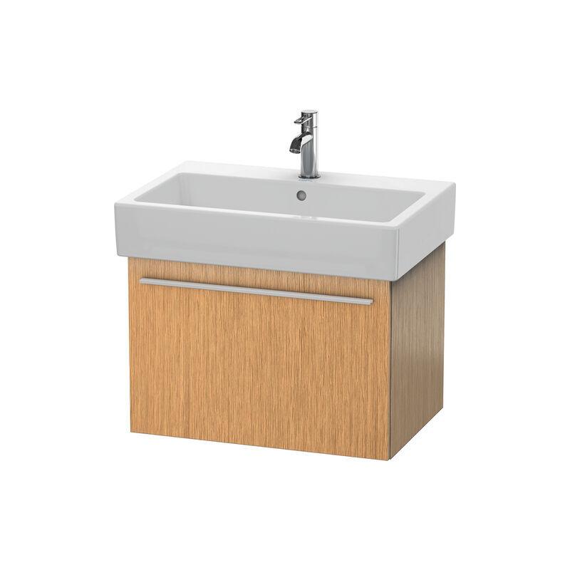 DURAVIT X-Large Meuble sous-lavabo suspendu 6042, 1 tiroir, 650mm, pour Vero, Couleur (avant/corps): Chêne brossé Placage bois véritable - XL604201212
