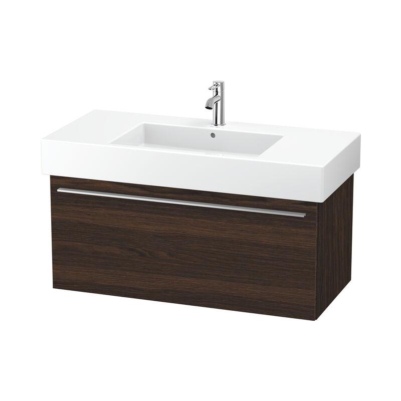 DURAVIT X-Large Meuble sous-lavabo suspendu 6053, 1 tiroir, 1000mm, pour Vero, Couleur (avant/corps): Noyer brossé Placage bois véritable - XL605306969