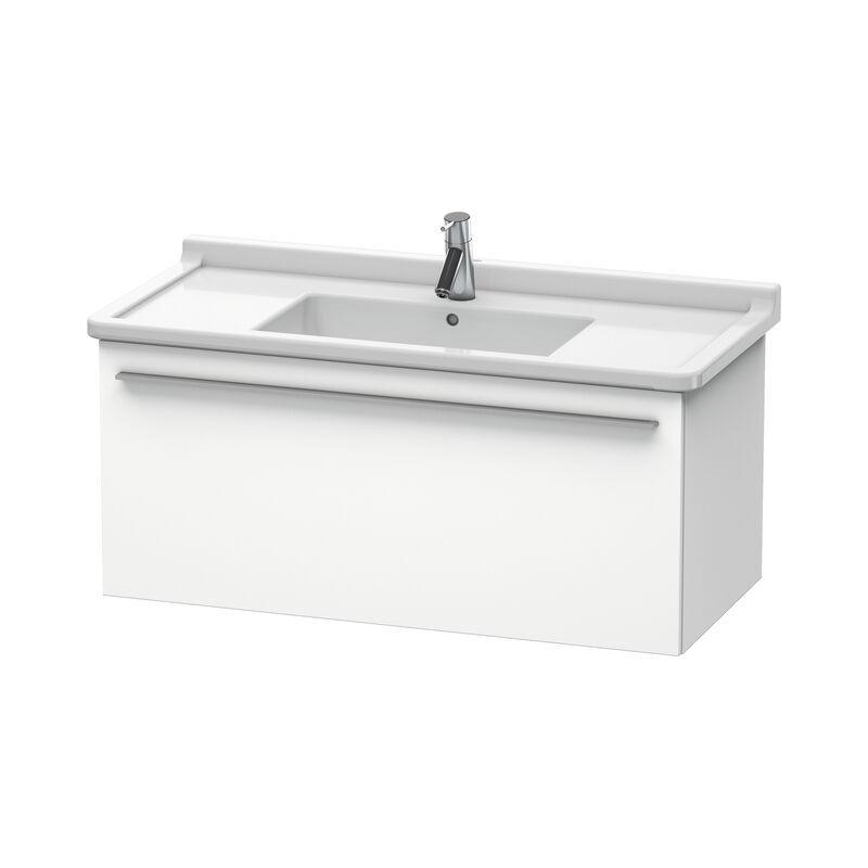 DURAVIT X-Large Meuble sous-lavabo suspendu 6058, 1 tiroir, 1000mm, pour Starck 3, Couleur (avant/corps): Chêne brossé Placage bois véritable - XL605801212