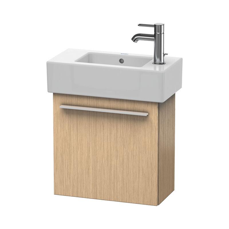DURAVIT X-Large Meuble sous-lavabo suspendu 6208, 1 porte en bois, pivotante à gauche, 450mm pour Vero, Couleur (avant/corps): Chêne brossé Placage bois