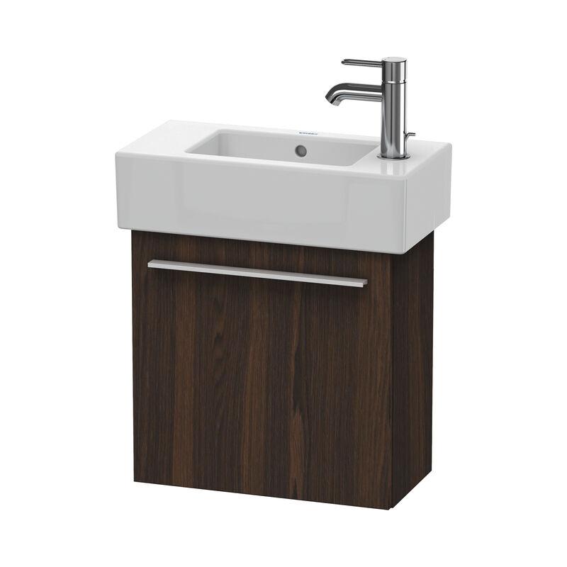DURAVIT X-Large Meuble sous-lavabo suspendu 6208, 1 porte en bois, pivotante à gauche, 450mm pour Vero, Couleur (avant/corps): Noyer brossé Placage bois