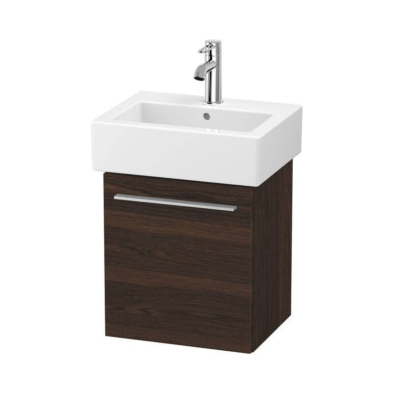 DURAVIT X-Large Meuble sous-lavabo suspendu 6209, 1 porte en bois, pivotante à gauche, 400mm pour Vero, Couleur (avant/corps): Noyer brossé Placage bois