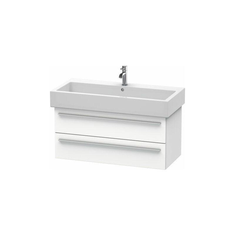 DURAVIT X-Large Meuble sous-lavabo suspendu 6346, 2 tiroirs, 950mm pour Vero, Couleur (avant/corps): placage en chêne véritable brossé foncé - XL634607272