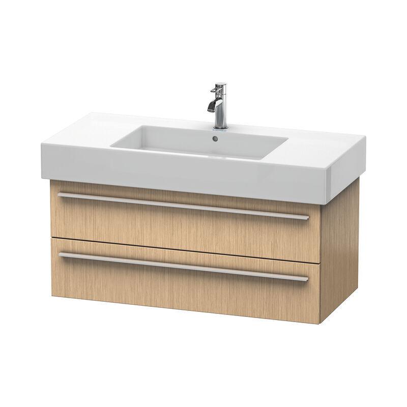 DURAVIT X-Large Meuble sous-lavabo suspendu 6353, 2 tiroirs, 1000mm pour Vero, Couleur (avant/corps): Chêne brossé Placage bois véritable - XL635301212