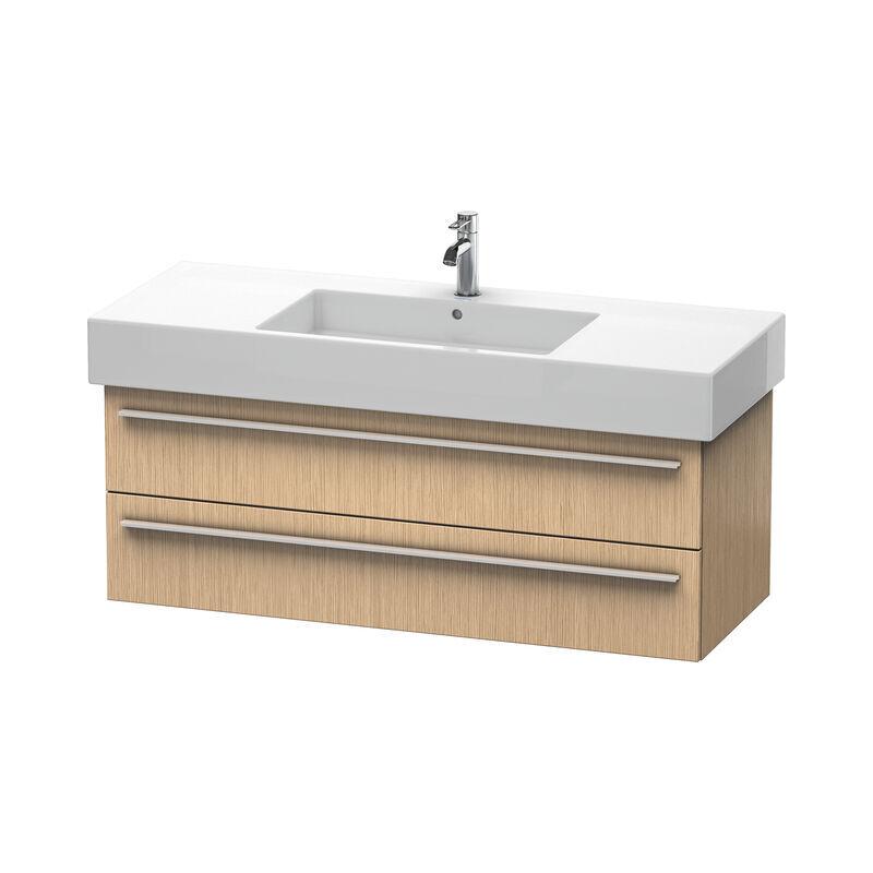 DURAVIT X-Large Meuble sous-lavabo suspendu 6354, 2 tiroirs, 1200mm, pour Vero, Couleur (avant/corps): Chêne brossé Placage bois véritable - XL635401212