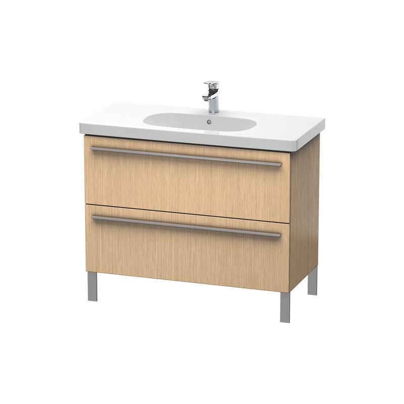 DURAVIT X-Large Meuble sous-lavabo suspendu 6517, 2 tiroirs, 1000mm pour D-Code 034210, Couleur (avant/corps): Chêne brossé Placage bois véritable