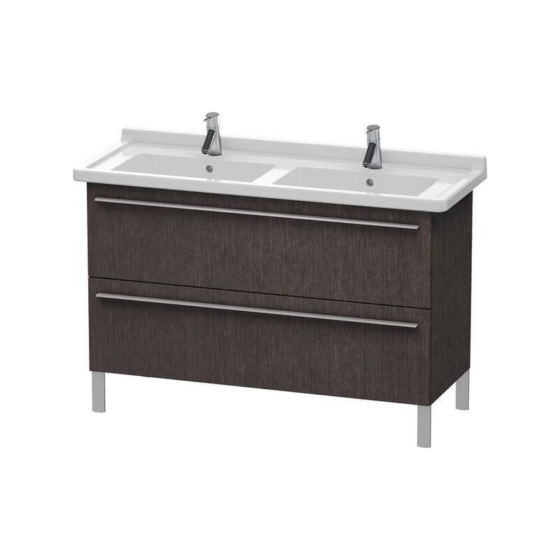 DURAVIT X-Large Meuble sous-lavabo suspendu 6538, 2 tiroirs, 1200mm pour D-Code 033213, Couleur (avant/corps): placage en chêne véritable brossé foncé