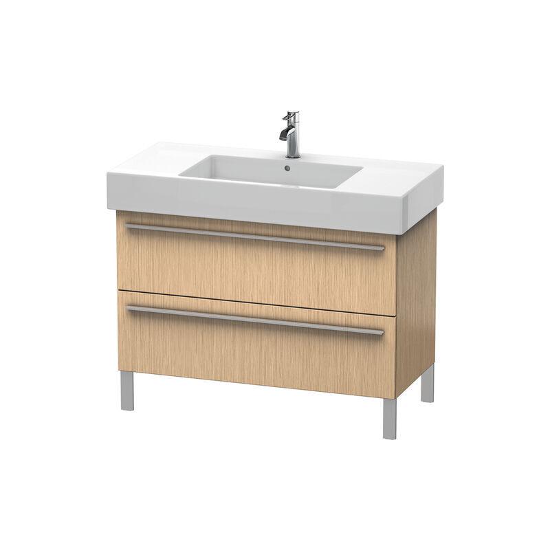 DURAVIT X-Large Meuble sous-lavabo suspendu 6544, 2 tiroirs, 1000mm pour Vero 032910 (non poli), Couleur (avant/corps): Chêne brossé Placage bois véritable
