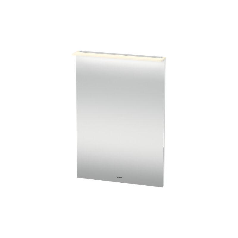 DURAVIT X-Large miroir avec éclairage, 600 x 860 x 36/105mm, Couleur (avant/corps): Chêne brossé Placage bois véritable - XL749201212 - Duravit